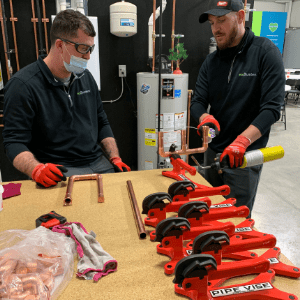 Staff Going through products